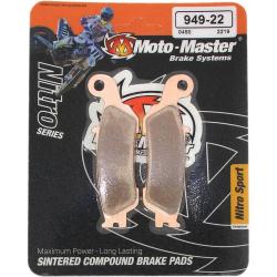 Plaquettes de frein Moto Master Nitro sinter avant YZ YZF
