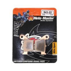 Plaquettes de frein Moto Master Nitro Sinter arrière CR CRF HM XR
