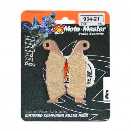 Plaquettes de frein Moto Master Nitro Sinter avant CR CRF KX KXF  RM RMZ YZ YZF BETA GASGAS