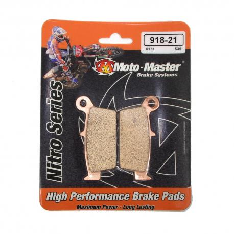 Plaquettes de frein Moto Master Nitro Sinter arrière Nissin