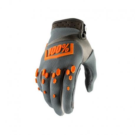 Gants 100% Airmatic gris orange