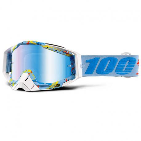 Lunettes 100% Racecraft HYPERLOOP Ecran Iridium miroir bleu
