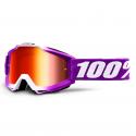 Lunettes 100% Accuri Framboise violet/blanc - Miroir rouge