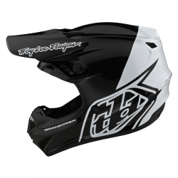 Casque Troy lee design GP Polyacrylite Block noir blanc