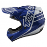 Casque Troy lee design GP Polyacrylite Silhouette Bleu Navy / Blanc