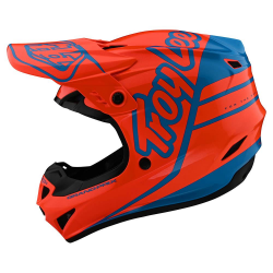 Casque Troy lee design GP Polyacrylite Orange / Bleu cyan