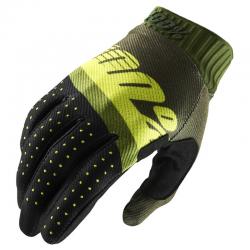 Gants 100% RIDEFIT Army vert / jaune fluo / fatigue