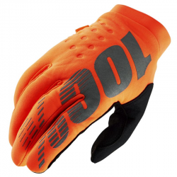 Gants 100% BRISKER Orange