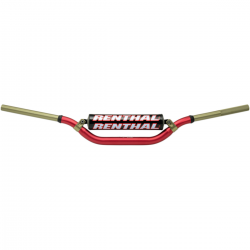 Guidon RENTHAL Twinwall 28.6 rouge