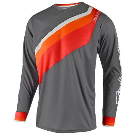 Maillot Troy lee design prisma gris orange