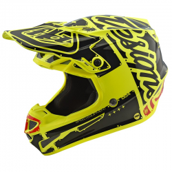 Casque Troy lee design SE4 Polyacrylite Factory yellow