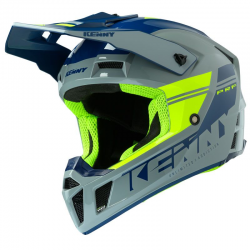 CASQUE KENNY PERFORMANCE PRF 2020 GREY NEON YELLOW