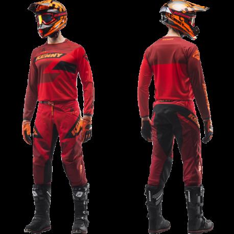 Maillot et pantalon motocross KENNY Track 2019 Rouge