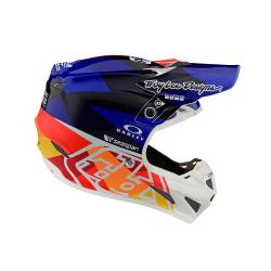 Casque Troy lee design SE4 Composite Jet orange/Navy helmets TLD - Size SM