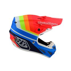 Casque Troy lee design SE4 Composite Mirage blue/red helmets TLD