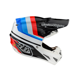 Casque Troy lee design SE4 Composite Mirage white/black helmets TLD