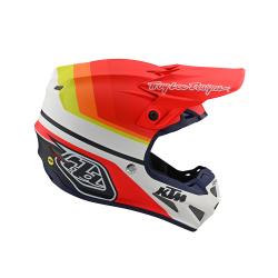 Casque Troy lee design SE4 Composite KTM Mirage white/orange helmets TLD