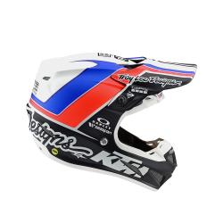 Casque Troy lee design SE4 Composite Unite white/navy helmets TLD -