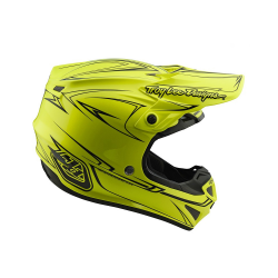 Casque Troy lee design SE4 Polyacrylite Pinstripe yellow helmets TLD -