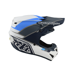 Casque Troy lee design SE4 Polyacrylite Beta white/gray helmets TLD -