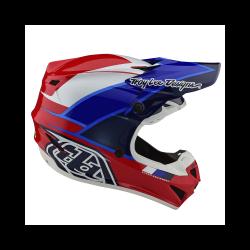 Casque Troy lee design SE4 Polyacrylite Beta red/blue helmets TLD -