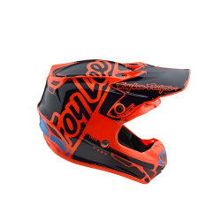 Casque Troy lee design SE4 enfant Polyacrylite Factory orange TLD - Size YMD