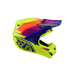 Casque Troy lee design SE4 enfant Polyacrylite Beta yellow/purple TLD - Size YLG