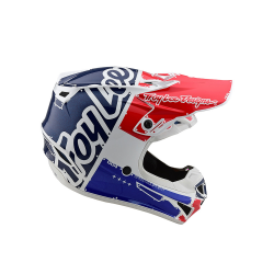Casque Troy lee design SE4 enfant Polyacrylite factory white blue TLD - Size YLG