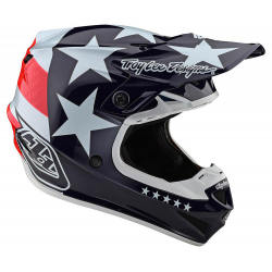 Casque Troy lee design SE4 enfant Polyacrylite Freedom rouge/blanc TLD - Taille YMD