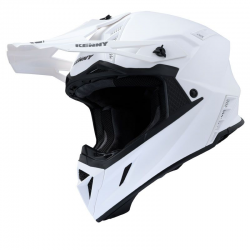 CASQUE KENNY TROPHY SOLID - MATT WHITE PEARL 2020