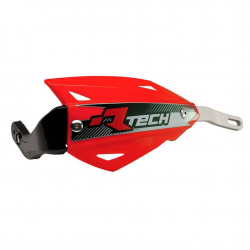 Protège-mains Vertigo Rouge alu sans kit montage RTECH