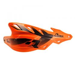 Protège-mains Raptor Orange avec kit montage RTECH