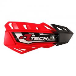 Protège-mains FLX Rouge avec kit montage RTECH