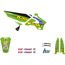 Kit déco 125 250 KX Replica Team JHK 1998 Tecnosel vintage