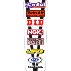 Sticker de garde boue arrière universel Vintage Tecnosel
