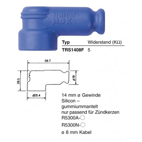 Capuchon antiparasite NGK TRS1408F