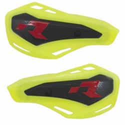 Protège mains jaune fluo HP1 avec kit montage RTECH