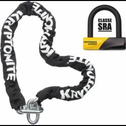 KRYINC150SRA Anti-vol U 99mm + Chaine lg 150cm / SRA
